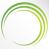 Abstract bright background with circles and green lines Royalty Free Stock Photo