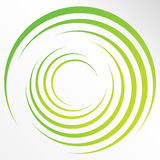 Abstract bright background with circles and green lines Royalty Free Stock Images