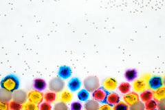 Abstract bright background - colorful balls hydroge Stock Image