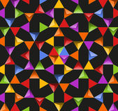 Abstract bright background with colorful triangles Royalty Free Stock Photos