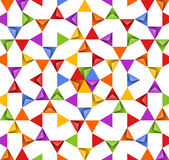 Abstract bright background with colorful triangles Stock Photography