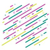 Abstract bright background Diagonal graphic colored lines and spirals on a white background Futuristic wallpaper pattern Dynamic royalty free illustration