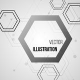 Abstract bright background with hexagons pattern design. Vector Stock Photos