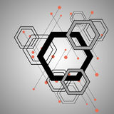 Abstract bright background with hexagons pattern design. Vector Stock Images