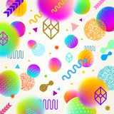 Abstract bright background with multicolored  geometric shapes. Abstract futuristic bright background with multicolored  geometric shapes. Vector illustration Stock Image