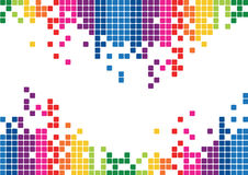Abstract bright Background Vector. A bright illustration of abstract colored elements Stock Image