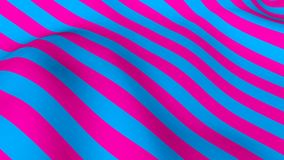 Abstract bright background with waving of colorful stripes, 3d rendering stock illustration