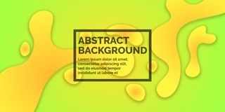 Abstract bright background with yellow splashes and word design. Vector illustration Stock Photo