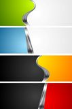 Abstract bright banners with metal elements Royalty Free Stock Photos