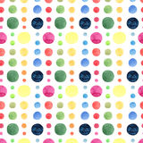 Abstract bright beautiful artistic wonderful bright blue, navy, turquoise, green, herbal, red, pink, yellow, orange circles patter. N watercolor hand sketch vector illustration
