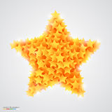Abstract bright and beautiful yellow star Royalty Free Stock Images