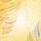 Abstract bright beige floral background Royalty Free Stock Images