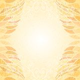 Abstract bright beige floral card vertical curly Royalty Free Stock Image