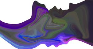 Abstract and bright blob changes colors video 4k.  vector illustration