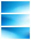 Abstract Bright Blue Background Template Set Stock Image