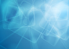 Abstract bright blue glossy squares tech background. Vector design Royalty Free Stock Photos