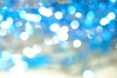 Abstract bright blue magic blurred background with bokeh effect Royalty Free Stock Photo