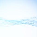 Abstract bright blue modern business speed swoosh lines. Elegant. Futuristic smoke border design. Liquid fresh womanly background. Vector illustration stock illustration