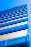 Abstract bright blue skyscraper Royalty Free Stock Photos