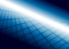 Abstract bright blue squares tech perspective background Royalty Free Stock Photo