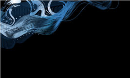 Abstract Bright Blue Waves Royalty Free Stock Photography