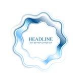 Abstract bright blue wavy logo ring Stock Photos