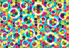 Abstract bright bubbles background Stock Photography