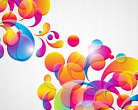 Abstract bright card. Abstract background with bright circles and teardrop-shaped arches. Illustration for your design Royalty Free Stock Photo