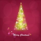 Abstract Bright Christmas Tree. Vector Stock Photo