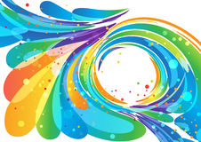 Abstract bright circle frame background. Abstract multicolored circle frame element on white Stock Photos