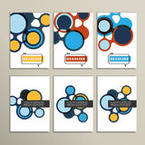 Abstract bright circles on a white background Royalty Free Stock Photo