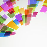 Abstract bright color squares fly Royalty Free Stock Photo