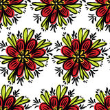 Abstract bright colored flowers background. Abstract bright colored flowers seamless pattern Royalty Free Stock Photography