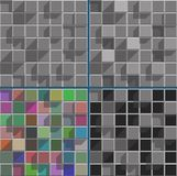 Abstract bright colored squares background mosaic. Abstract pale colored squares background mosaic set Vector Illustration