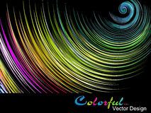 Abstract bright colorful background. On black Stock Illustration