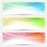Abstract bright colorful banners set - web Stock Image