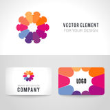 Abstract bright colorful communication logotype Stock Photography
