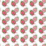 Abstract bright colorful delicious tasty yummy ripe juicy cute lovely. Red summer autumn cut watermelon with blots and spray pattern watercolor hand Stock Photo
