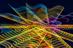 Abstract of Bright, Colorful Light Streaks Stock Photo