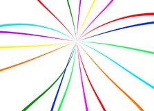 Abstract bright colorful lines. Abstract colorful lines on white background Royalty Free Stock Photography