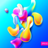Abstract bright colorful plasma drops shapes pattern isolated on. Blue background for banner, card, poster, web design, vector illustration collection eps10 stock illustration