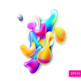 Abstract bright colorful plasma drops shapes pattern isolated on. White background for banner, card, poster, web design, vector illustration collection eps10 stock illustration