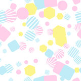 Abstract bright colorful seamless pattern. Vector illustration Stock Photos