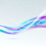Abstract bright colorful wave background Stock Photos