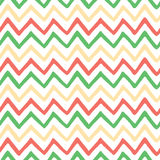 Abstract bright colorful zigzag seamless hand painted pattern. Stock Images