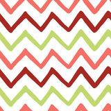 Abstract bright colorful zigzag seamless hand painted pattern. Stock Photos