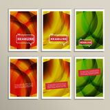 Abstract bright colors brown yellow and green Stock Image