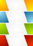 Abstract bright corporate banners Royalty Free Stock Photo