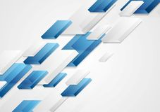 Abstract bright corporate tech 3d shapes background Royalty Free Stock Images