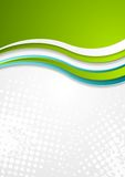 Abstract bright corporate wavy flyer design Stock Photos
